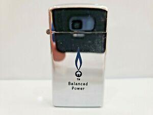 "ADVERTISING ""BALANCED POWER"" Vintage Scripto Butane Lighter / USA MADE  1042.29"
