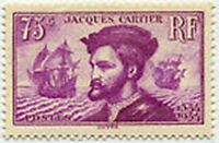 "FRANCE STAMP TIMBRE YVERT N° 296 "" JACQUES CARTIER AU CANADA 75c "" NEUF xx TTB"