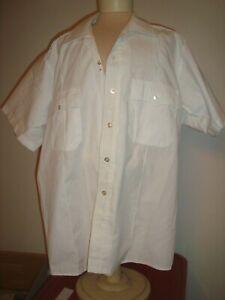 Clifton White Short Sleeve EMT Uniform Super Shirt Zipper Front size 16 1/2  USA