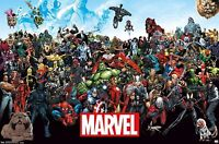 MARVEL COMICS The Line Up Characters POSTER NEW 22.375 X34 Avengers