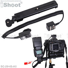 Flash Bracket/Mount&2.5m i-TTL Off-Camera Shoe Cord Cable for Nikon SC-28/SC-29