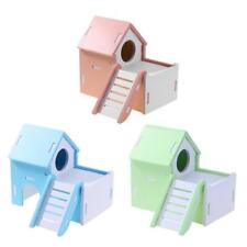 Pet Hamster Hedgehog Slide Stairs Bedding Cage House Nest Hutch Exercise Toys