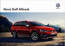 Volkswagen Vw Golf Alltrack 10 / 2014 catalogue brochure tcheque Czech rare
