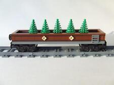 * New * Custom Train Car Built w/ New Lego Bricks / Emerald Night 10194 Set