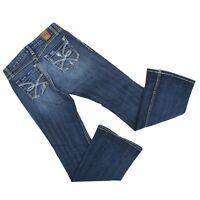BKE Buckle Womens Sz 26 x 31.5 (28 x 30) Sabrina Boot Cut Jeans Denim Stretch