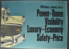 1962 Opel Rekord Brochure Folder Sedan Coupe Caravan Wagon Excellent Original 62