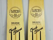 """Vintage pair of Lund Chuck Stearns """"BALBOA""""   NORTHERN WHITE ASH"""