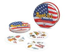 SPOT IT! AMERICA *Rare* Travel Size Family Matching Game Educational Fun Ages 6+