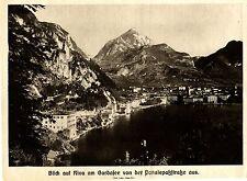 Blick auf Riva am Gardasee von der Ponalepaßstraße aus 1915