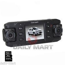 "720P GPS G-sensor 8GB Car Video Dual Camera DVR Recorder Night 2"" Blackbox"