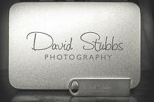 20pcs 4GB Free Custom Logo photography silver metal USB 2.0 memory flash drive