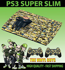 PLAYSTATION PS3 SUPER SOTTILE CATTIVISSIMO ME MINION COVER SKIN ADESIVO & 2 PAD Pelle