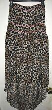 American Rag Cie Leopard Cheetah Animal Print Asymmetrical Dress XL *FLAW*
