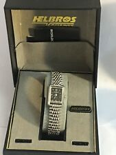 Vintage Helbros Ladies Silver Tone Quartz Wrist  Watch New Old Stock (24292)