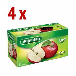80 Turkish Apple Tea bags (4 box x 20 bags)  Instant  Most Famous brand Dogadan