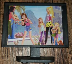 Barbie Doll 2018 Pink Passport 3 Story Townhouse Replacement TV *