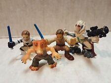 Star Wars Galactic Heroes Two Obi Wan, Grievous & Jar Jar Action Figures Hasbro