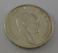 3 Mark Dt. Reich Silber Silbermünze / Friedrich August König V. Sachsen / 1909 E