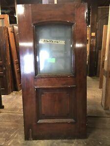 """40"""" Birch Door Church Antique Door Vintage Door"""