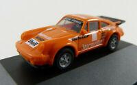 """Porsche """"Jägermeister /Bosch"""" orange Herpa in PC-Vitrine 1:87 H0 ohne OVP [BA12]"""