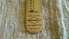 "Gaebel 612-12 Stainless Steel 12"" Printers Line Gauge (ruler)"