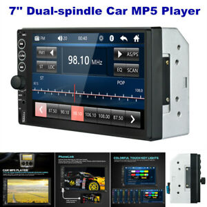 "7"" 2Din TFT Touch Screen Bluetooth SD/USB/AUX Car Radio Audio MP5 Player 4X45W"