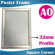 A0 Heavy Duty Silver Square Corner Snap Frame Poster Frame Picture Frame 32MM