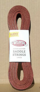 "Weaver Leather : Saddle String 2-Pack, Latigo Leather - 1/2"" x 72"""