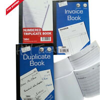 A5 Full / Half Size Books Pad With Page Numbered Carbon Copy Sheet White Paper