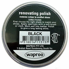 Waproo Black Shoe Polish Cream - Renovating Polish - Top Quility !!