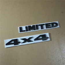 Matte Black 4x4 + LIMITED Seperate Metal Sticker Decal Badge Emblem 3D suv Auto