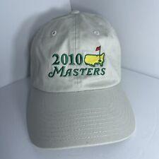 New listing Masters Golf 2010 Augusta National Khaki Hat Baseball Cap American Needle New