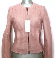 BOMBOOGIE JW RABY Damen Lederjacke Jacke Leatherjacket Jacket rosa NEU ETIKETT!
