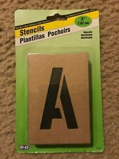 HY-KO Products ST-3 Number & Letter Stencils, 3 INCH, Tan NEW
