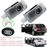 Car Door LEDs Projector Laser Logo For Audi A8 A7 A6 A5 A4 A3 A1 R8 TT Q7 Q5 Q3