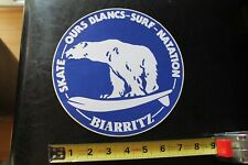 Biarritz France Polar Bear Surfboard Misc South Pacific Vintage Surfing Sticker