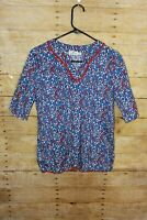 Vineyard Vines Red White and Blue Stars Whales Tunic Shirt Girl's Size M (10-12)