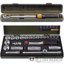 """PROXXON DREHMOMENTSCHLÜSSEL 3/8"""" 20-100Nm 430mm MC100+KNARRENKASTEN SATZ 24-tlg."""