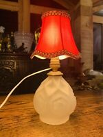 1930's French Art Deco Carillo Glass Table Lamp