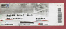 Orig.Ticket   Europa League  09/10  HAMBURGER SV - RANDERS FC  !!  SELTEN