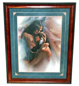 """RARE Lee Bogle SIGNED AND NUMBERED  """"The Comforter"""" Framed LE Art Print with COA"""