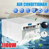 1100W 3754BTU Window Air Conditioner Refrigerated Cooling Heating Remote Timer