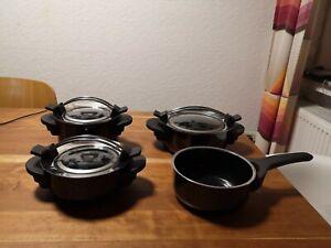 Silit  Kochtöpfe  Serie 2000 Silargan schwarz  3 Töpfe + 3 Deckeln + Stieltopf