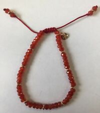 Lola Rose Northwood Red Tomato Quartzite & Gold Bracelet New, Gift Pouch, Ladies
