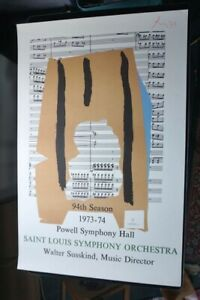 Vintage Robert Motherwell St Louis Symphony Orchestra 1973 Fine Art Print Poster