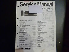 ORIGINALI service manual TECHNICS Ricevitore sa-gx670