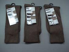 acb941f53f0 NWT Women s Hue Silky Rib Trouser Socks One Size Mink 3 Pair  160J