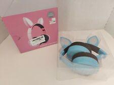 Bluetooth Wireless Cat Ear Headsets Led w/Mic Headphones - Blue