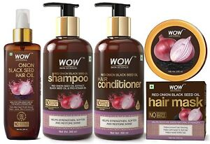 WOW Skin Science Onion Hair Care Kit (Shampoo + Conditioner + Oil + Hair Mask)