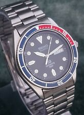*VINTAGE DIVERS SEIKO 8123-61OA SPORTS 100 PEPSI BEZEL STAINLESS STEEL WATCH VGC